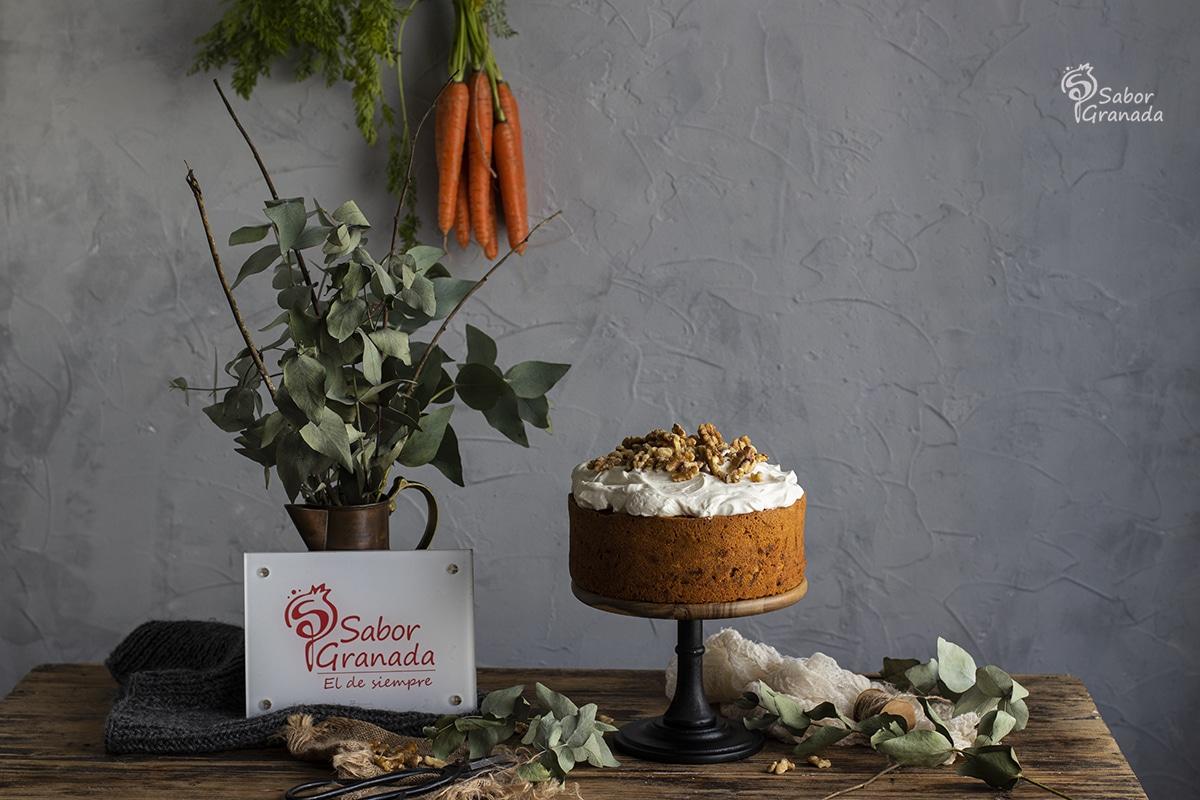 Receta para hacer tarta de zanahoria y nueces - Sabor Granada