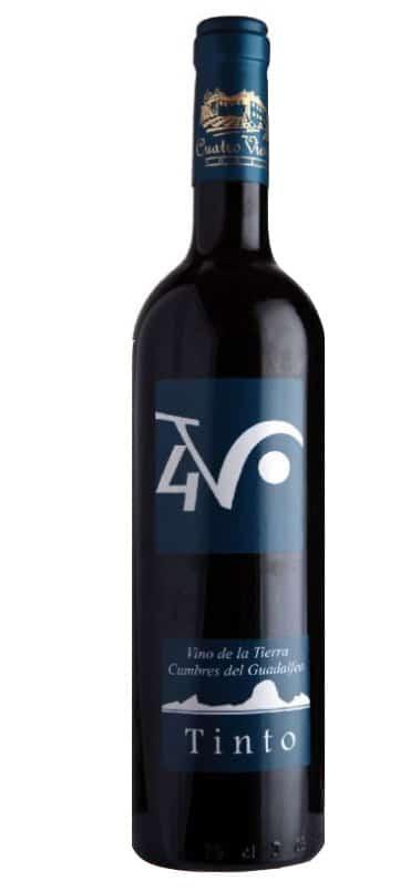 Botella de Vino de la Tierra Cumbres del Guadalfeo de 4v - Sabor Granada