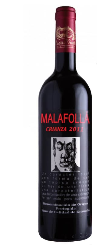 Botella de vino Malafollá - Sabor Granada