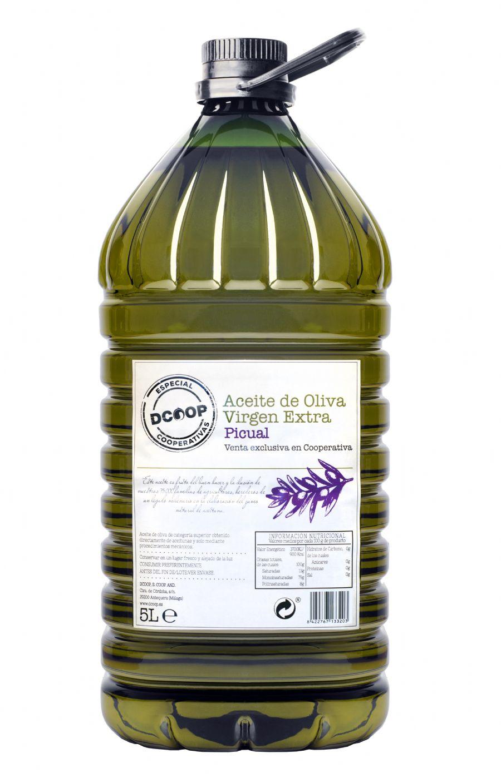 Botella de 5 litros de AOVE DCOOP picual - Sabor Granada