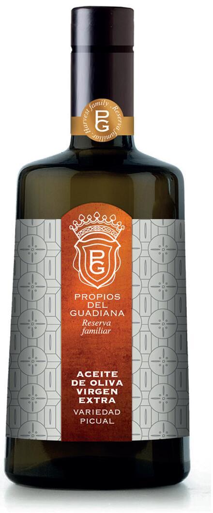 Botella de AOVE variedad picual Propios del Guadiana - Sabor Granada