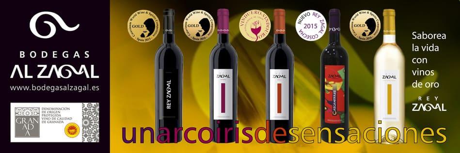 Banner con varios vinos de Bodegas Al Zagal - Sabor Granada
