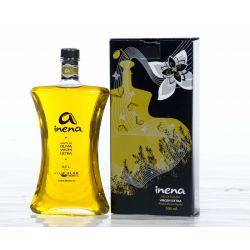 Botella transparente de AOVE de Inena - Sabor Granada