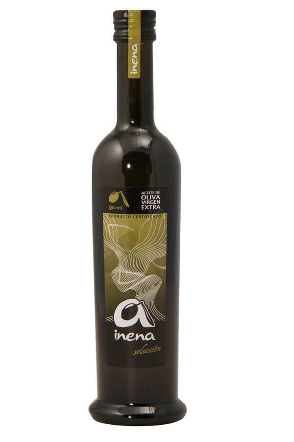 Botella de AOVE de 500 mililitros de Inena - Sabor Granada