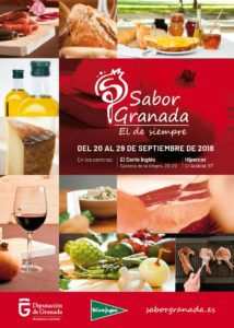 Banner publicitario de una de las acciones promocionales de productos Sabor Granada en Centros Comerciales