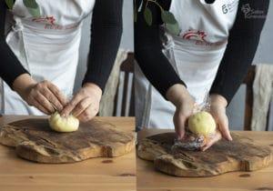 Pasos a seguir para dar forma a las bombas picantes de patatas - Sabor Granada