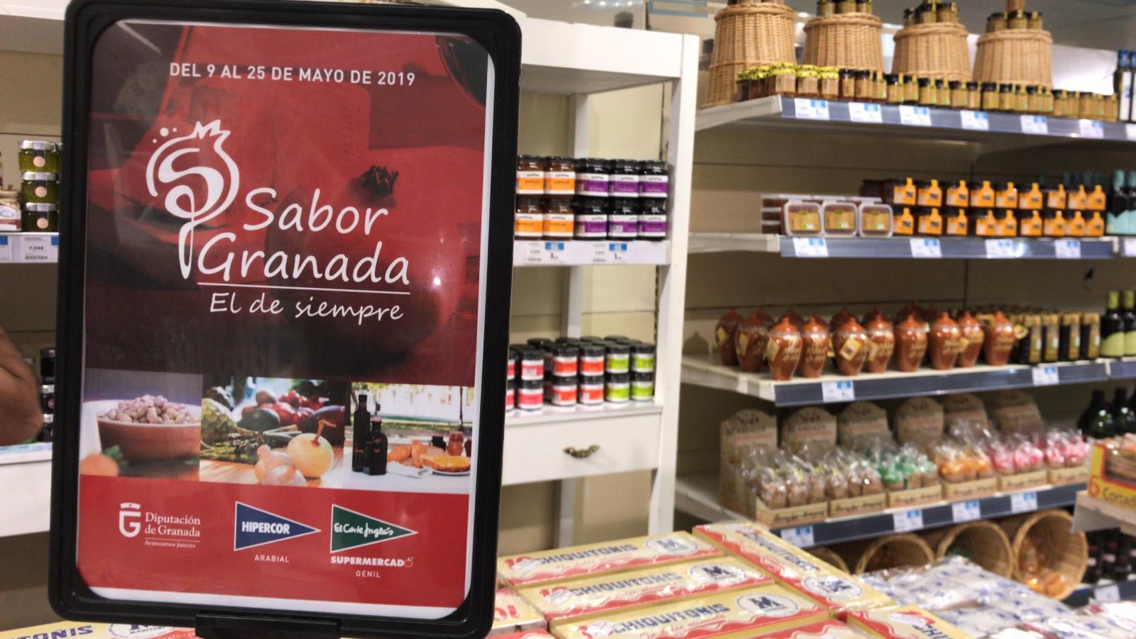 Acción promocional de productos Sabor Granada en Centros Comerciales