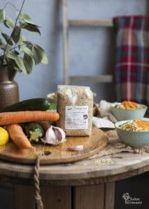 Arroz basmati integral de Las Torcas para hacer ensalada de arroz integral con verduras - Sabor Granada