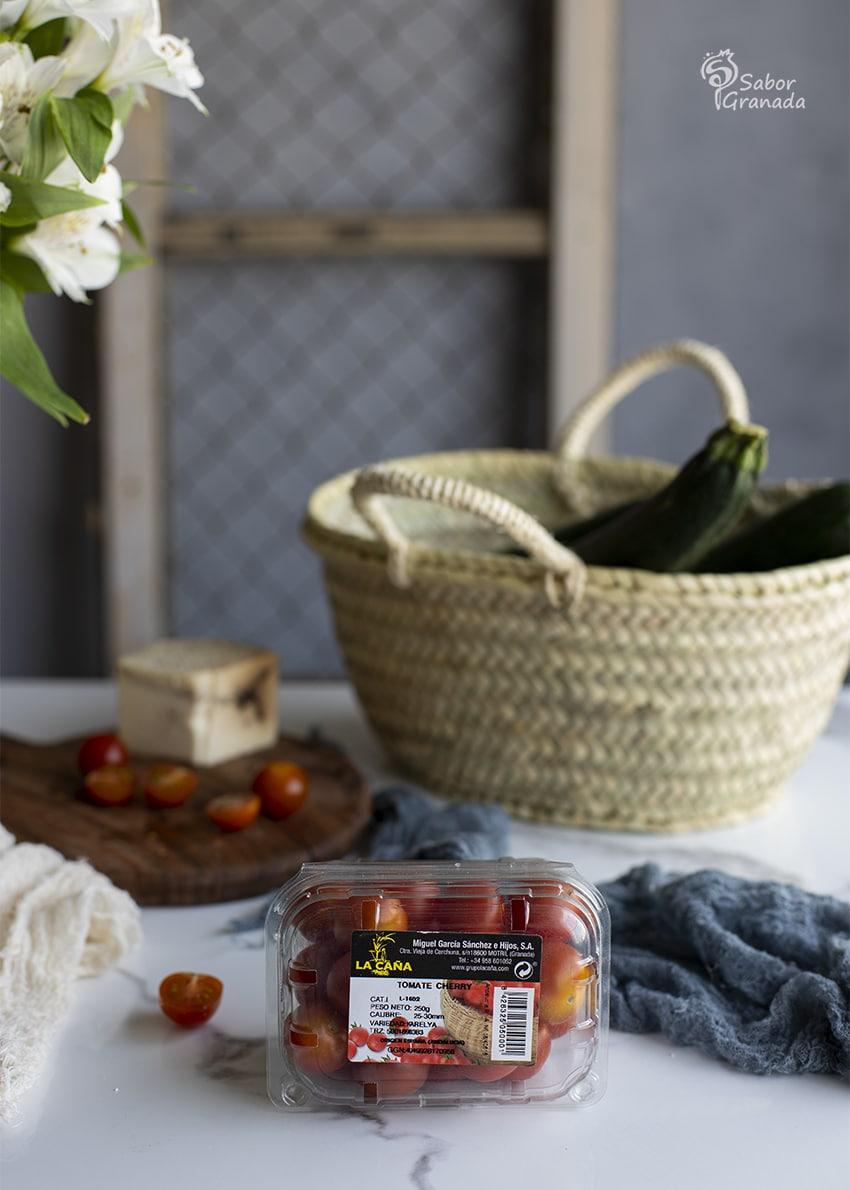 Tomates cherry La Caña para hacer calabacines rellenos - Sabor Granada