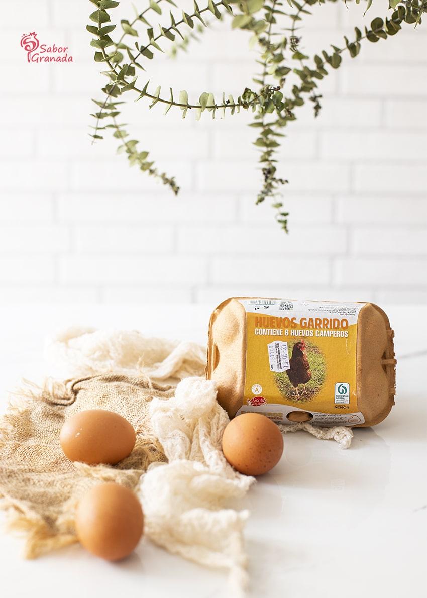 Huevos Garrido camperos para hacer pastel de calabacín - Sabor Granada
