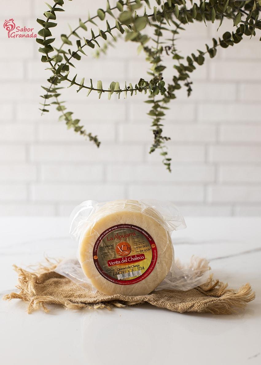 Queso de leche cruda de la Venta del Chaleco para hacer pastel de calabacín - Sabor Granada