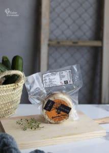 queso semicurado con ajo negro de Quesos Vico para hacer calabacines rellenos - Sabor Granada