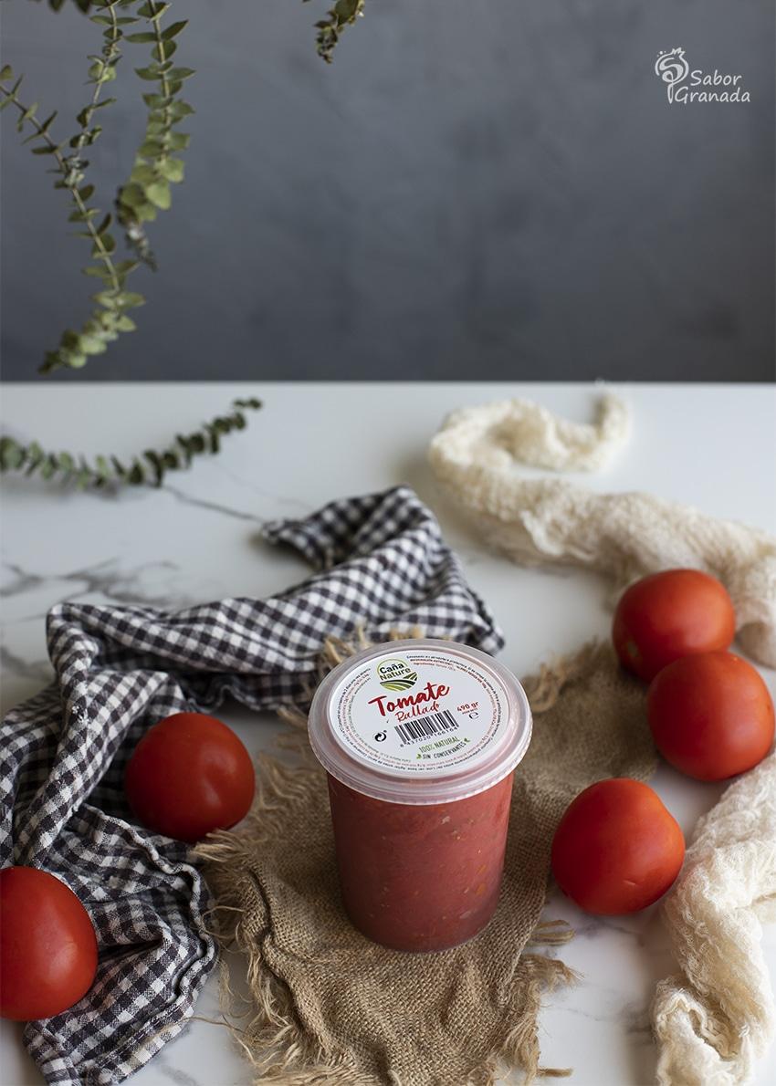 Tomate rallado Caña Nature para hacer sopa de espárragos verdes - Sabor Granada