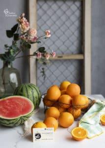 Sandía y naranjas de Las Torcas para hacer polos - Sabor Granada