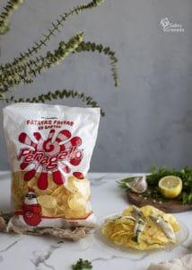 Patatas fritas Peñagallo para acompañar los boquerones en vinagre - Sabor Granada