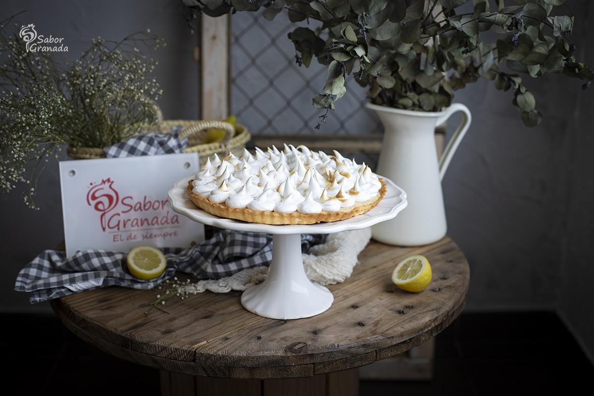 Receta para hacer tarta de limón y merengue - Sabor Granada
