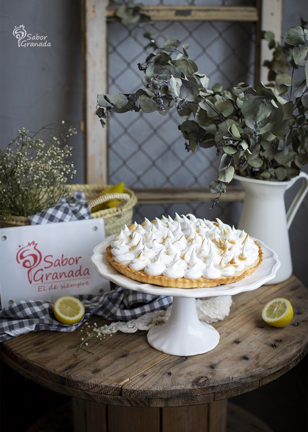 Tarta de limón y merengue - Sabor Granada