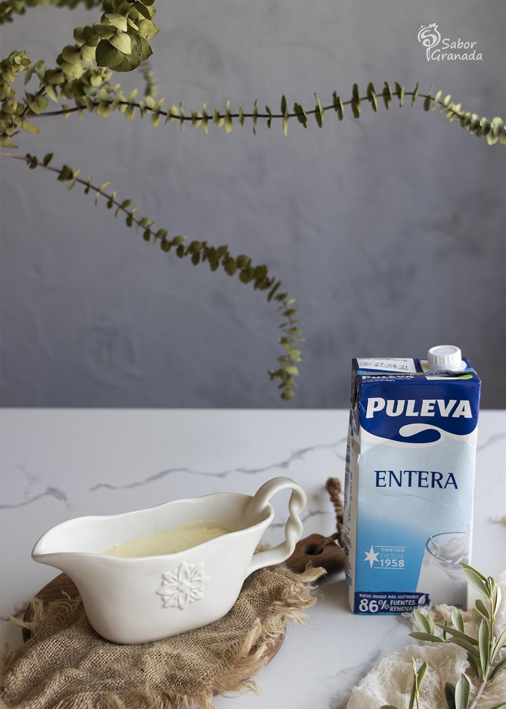 Leche Puleva para hacer ensaladilla de langostinos con lactonesa - Sabor Granada