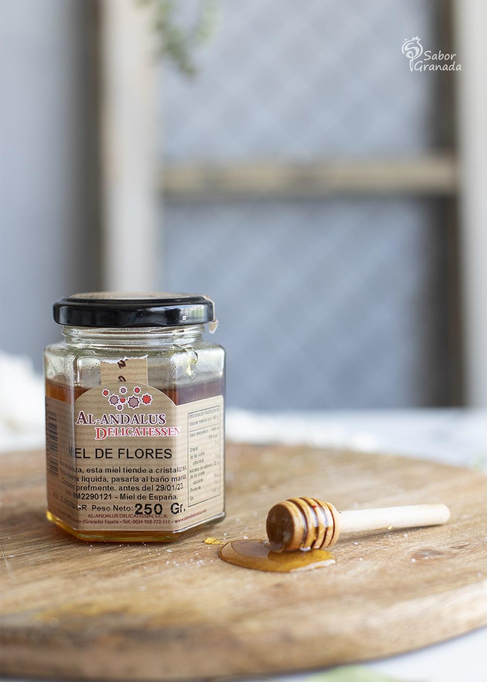 Miel de Flores de Al-Andalus Delicatessen para hacer berenjenas con miel - Sabor Granada