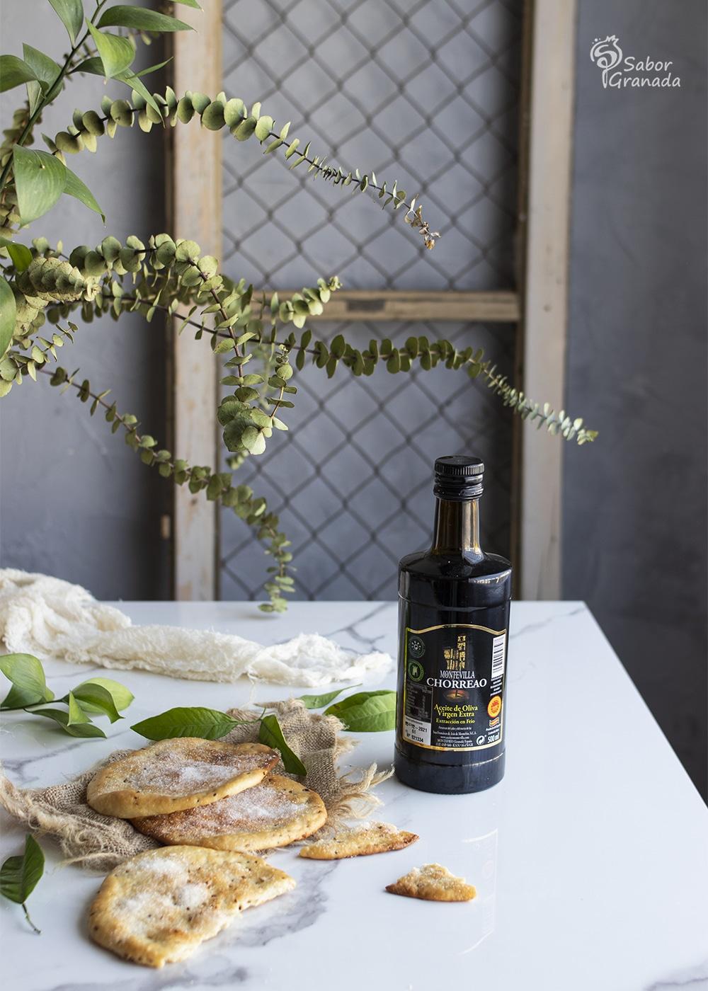 AOVE Montevilla Chorreao para hacer tortas de aceite - Sabor Granada