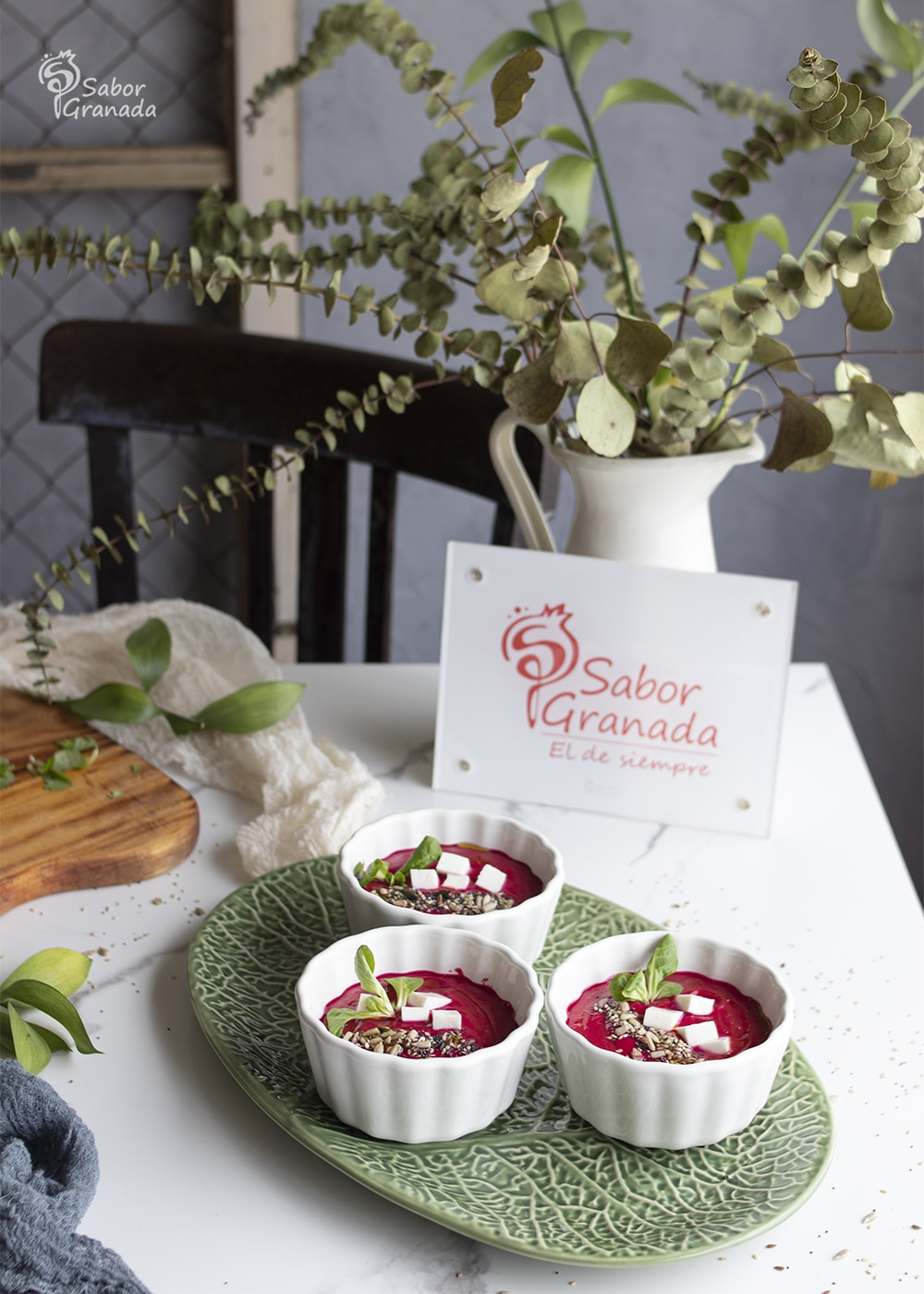Salmorejo de remolacha - Sabor Granada