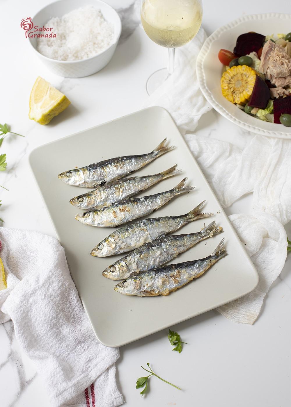 Plato de sardinas al horno - Sabor Granada