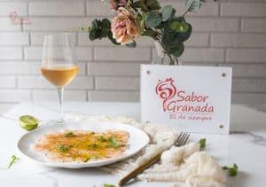 Receta para hacer un carpaccio de quisquilla de Motril - Sabor Granada