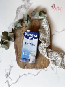 Leche Puleva para hacer un pudin de coco - Sabor Granada