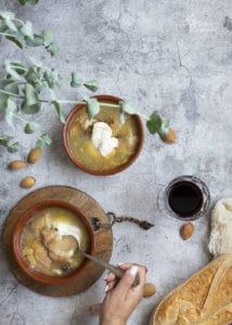 Sopa de ajos lista para comer - Sabor Granada