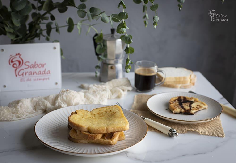 Receta para hacer unas tostadas francesas - Sabor Granada